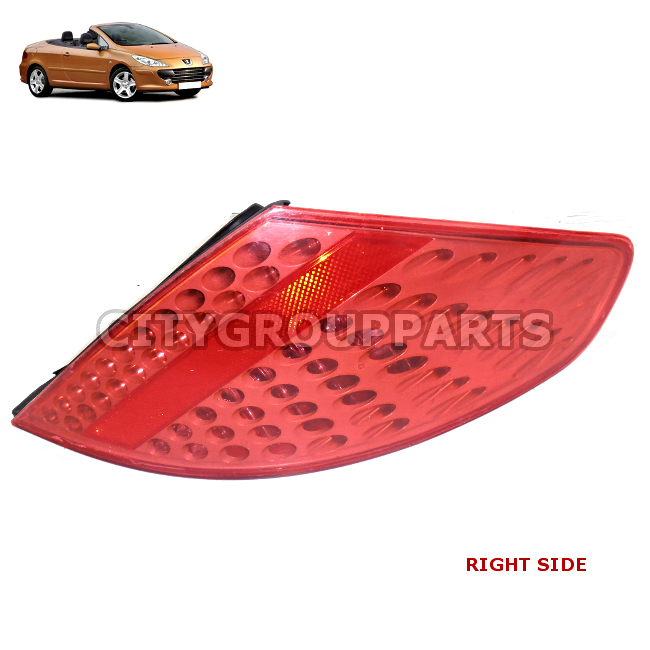 Peugeot 307 Cc Cabriolet Rear Lamp Back Tail Light Lense Driver Right Side
